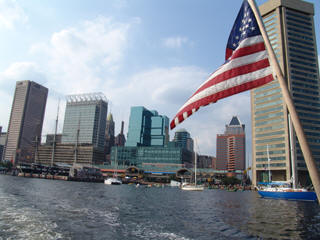 Baltimore river cruise view