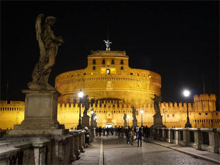 Rome Castel Sant Angelo at Christmas