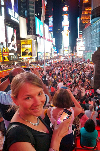 Yvonne in Times Square